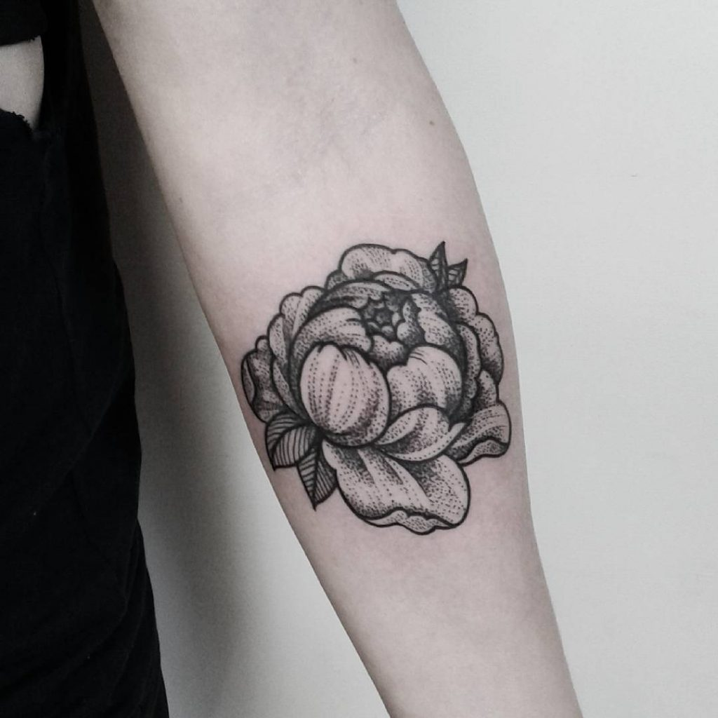 peony flower tattoo picture 52