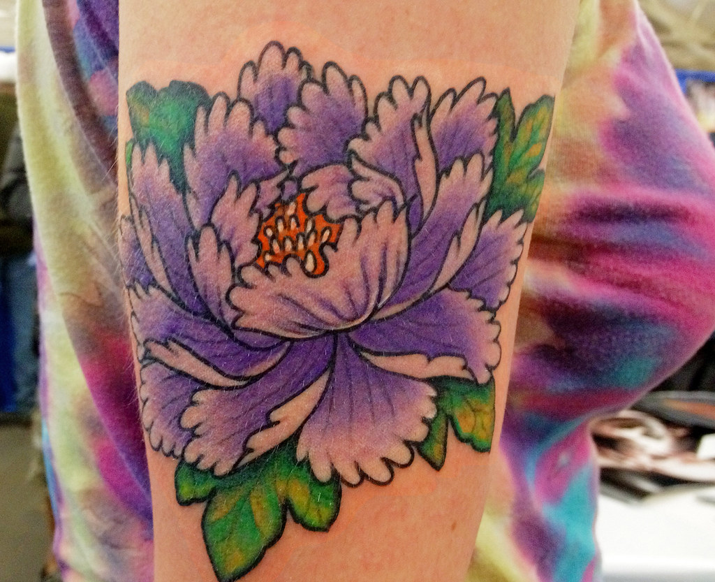 peony flower tattoo picture 53