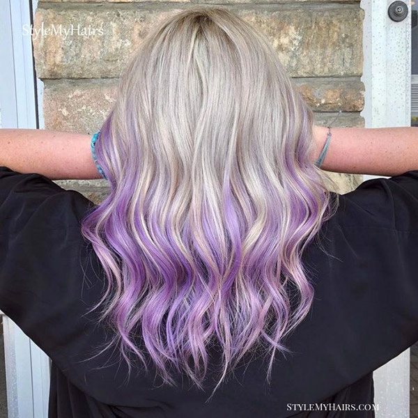 purple and blonde ombre