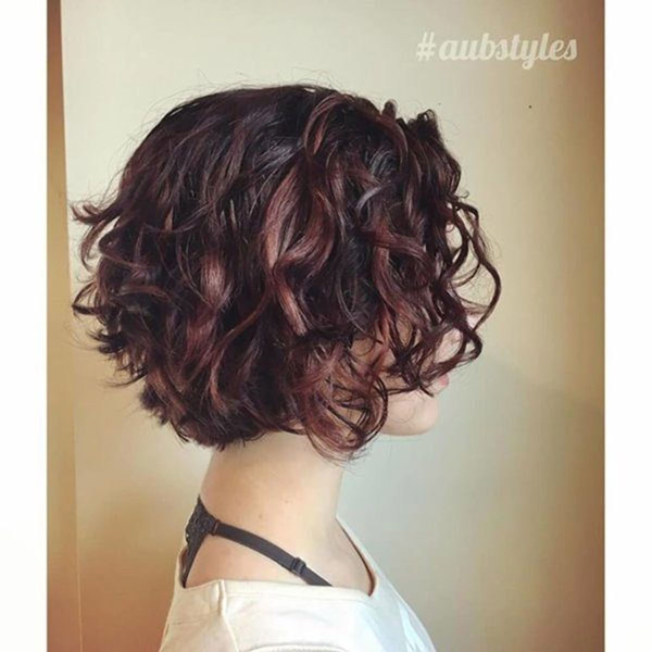 short natural curly hair