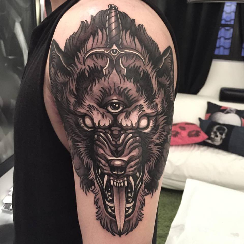 wolf tattoo design 10