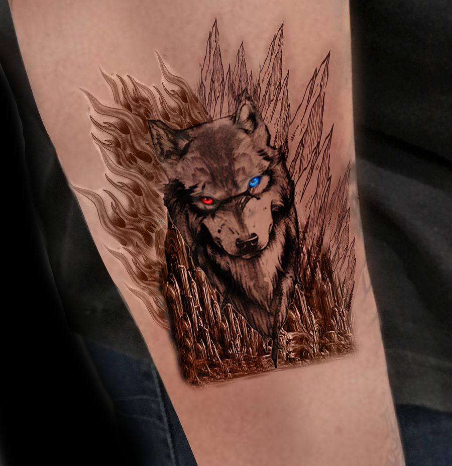 wolf tattoo ideas 12
