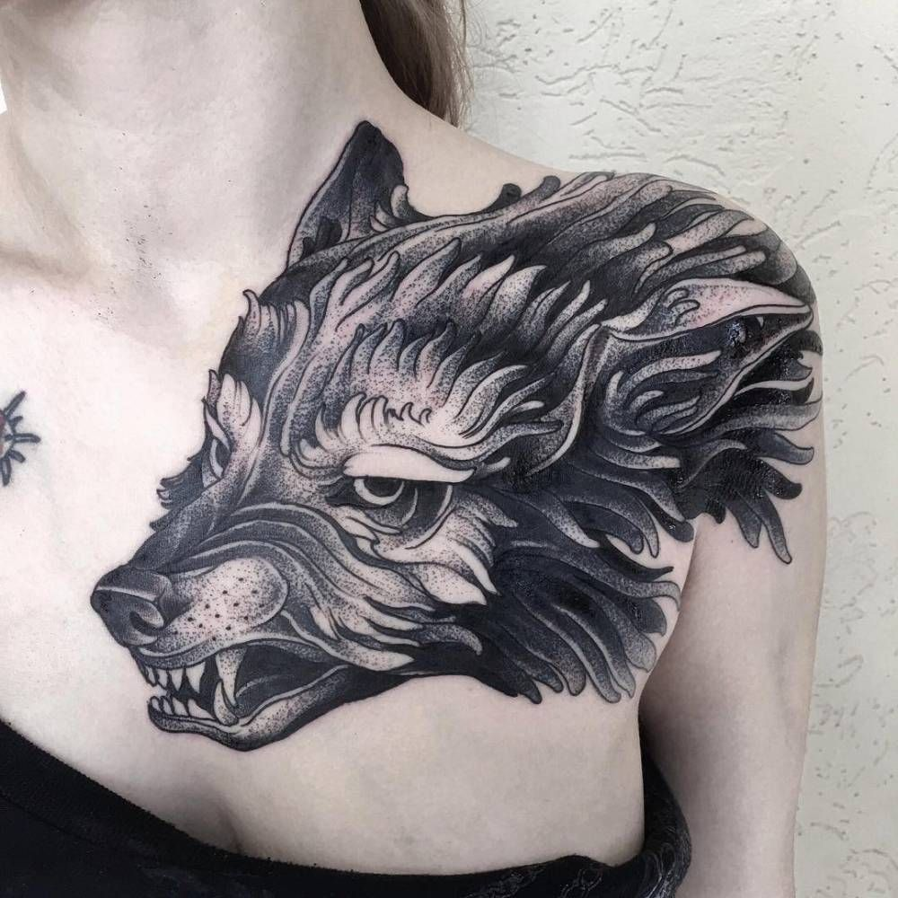 wolf tattoo image 23