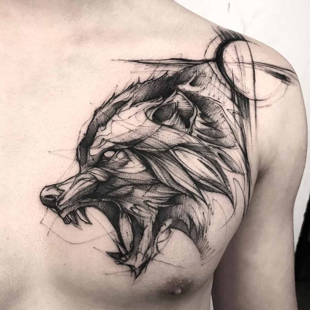 wolf tattoo image 25