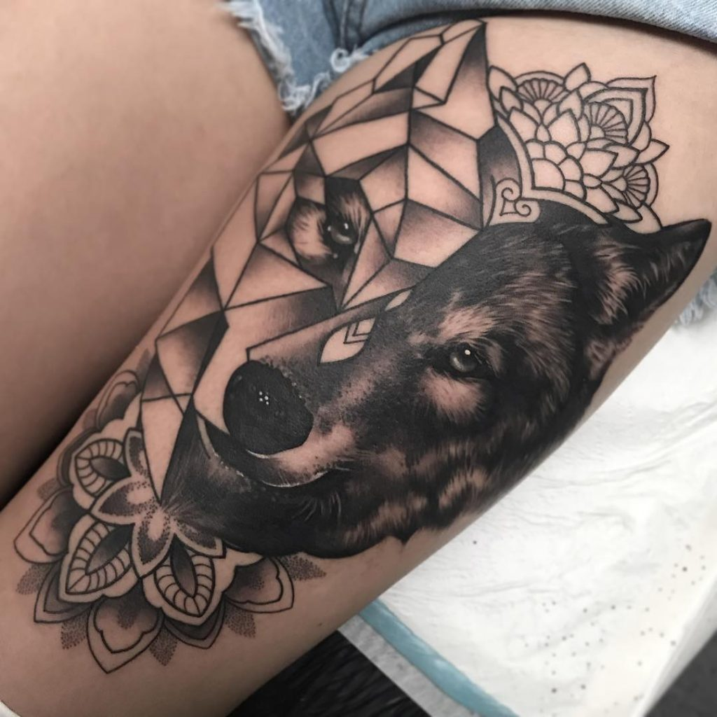 wolf tattoo image 27