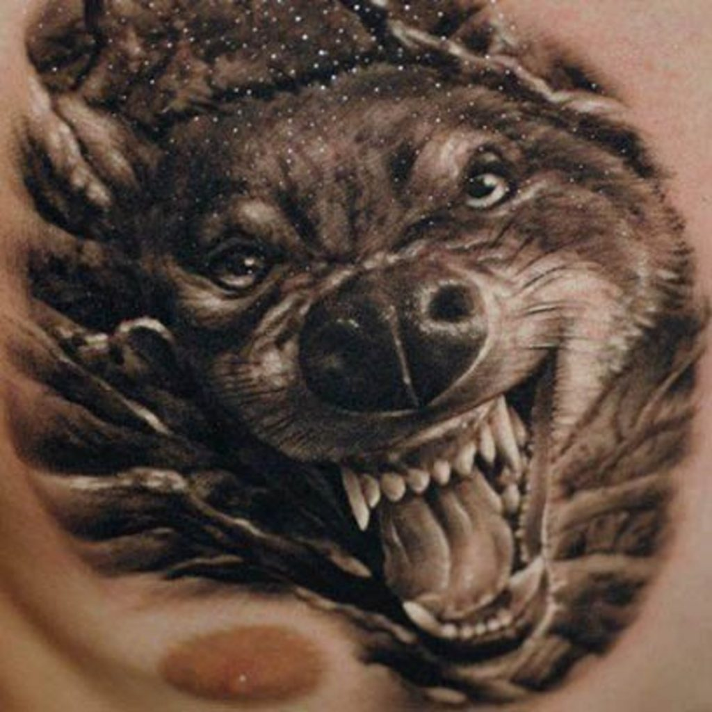 wolf tattoo image 29