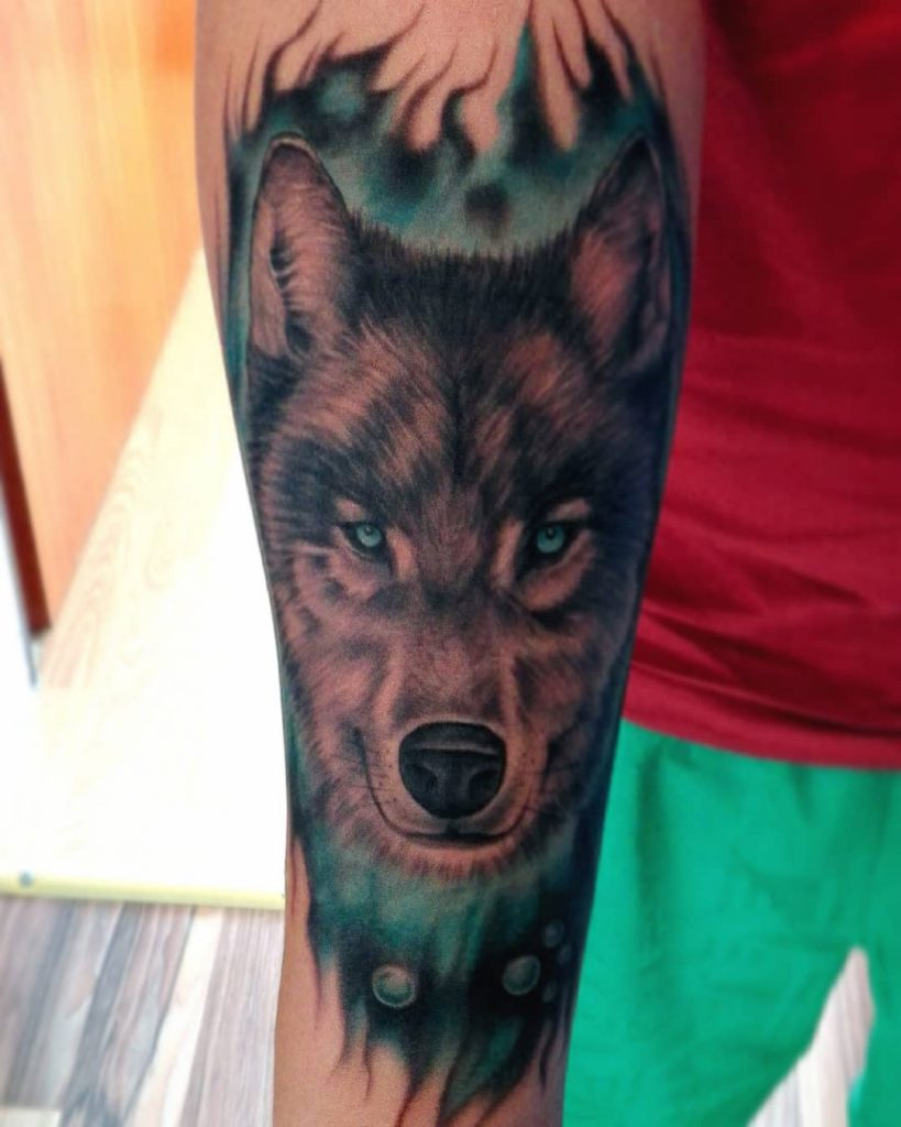 wolf tattoo photo 37