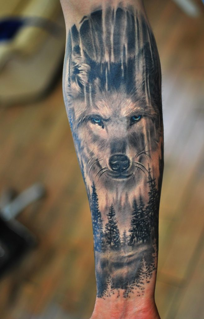 wolf tattoo picture 44