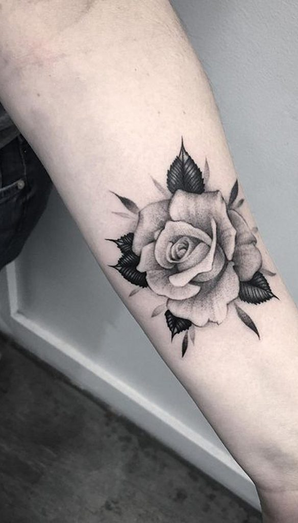 Best rose tattoo design