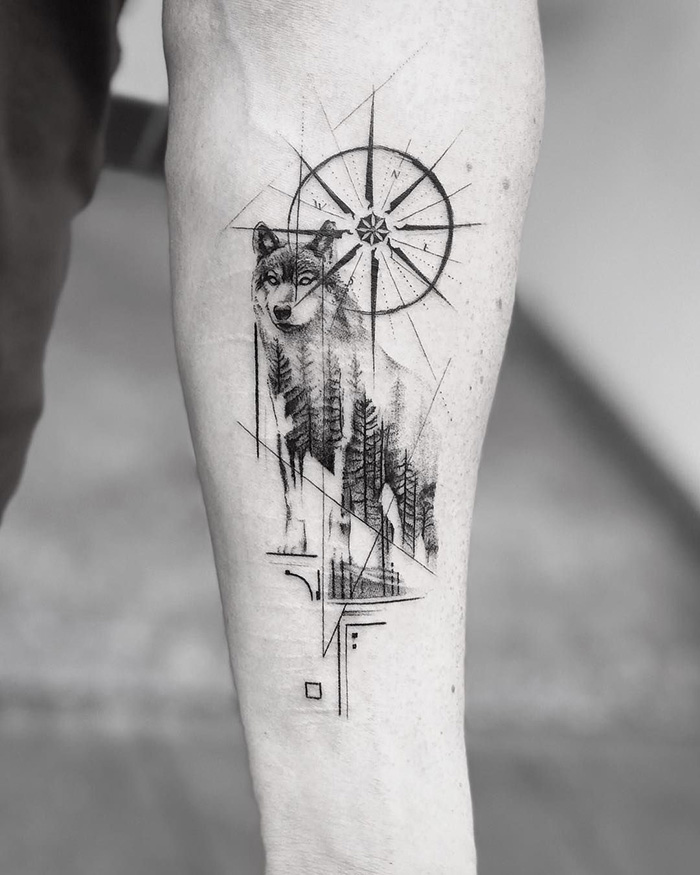 compass tattoo picture 46