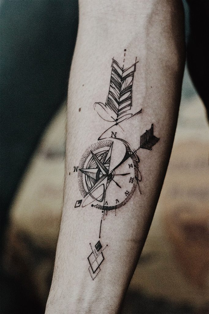compass tattoo picture 48