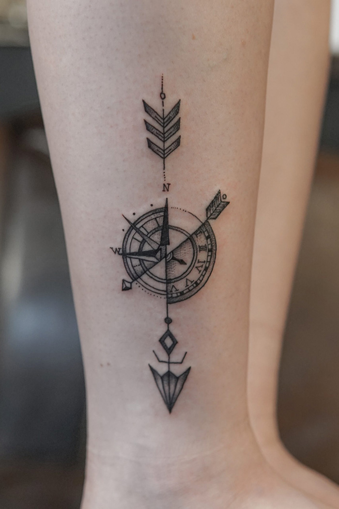 Compass tattoo picture