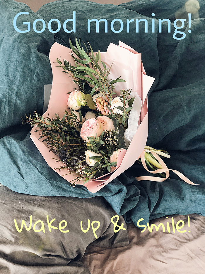 good morning wake up smile