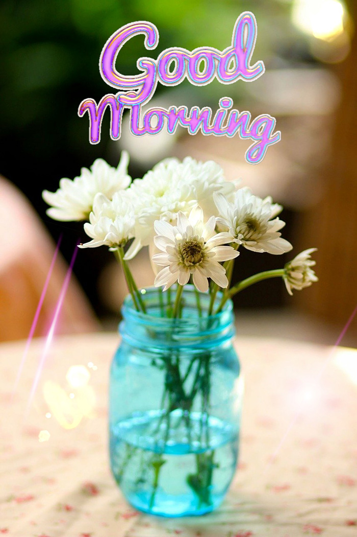good morning with flowers 9