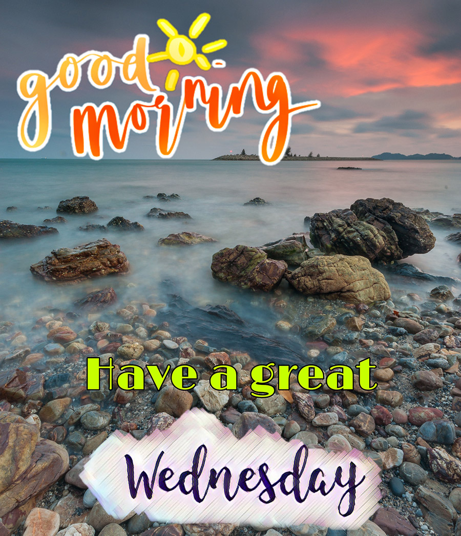Good morning wednesday image with pebble beach