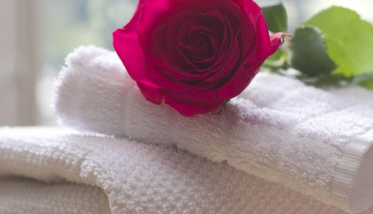 good-morning-image-with-rose-and-towel