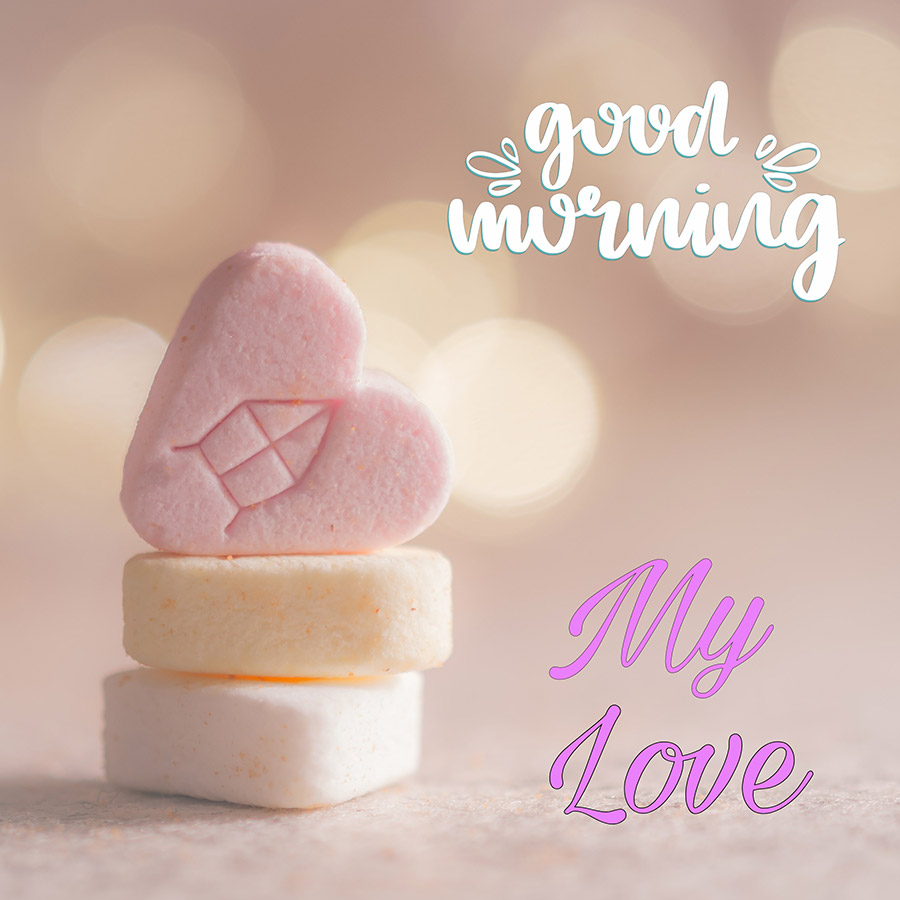Good morning sweetheart image with candy