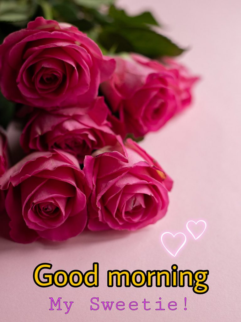 Good morning sweetheart image with roses
