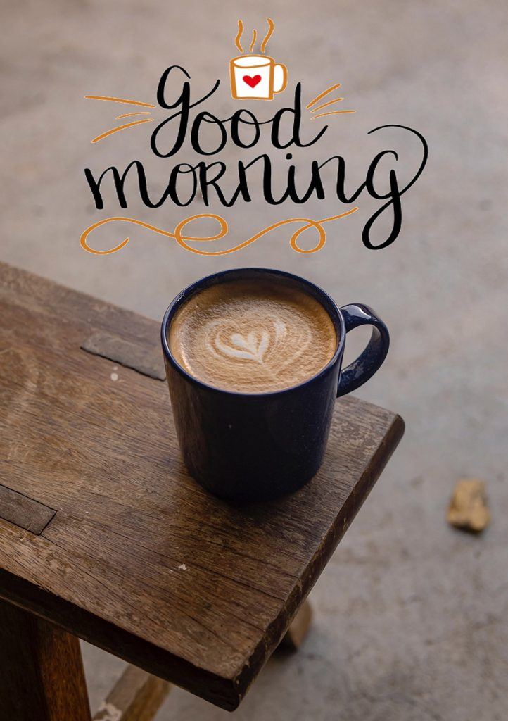 Good morning sweetheart image with coffee cup