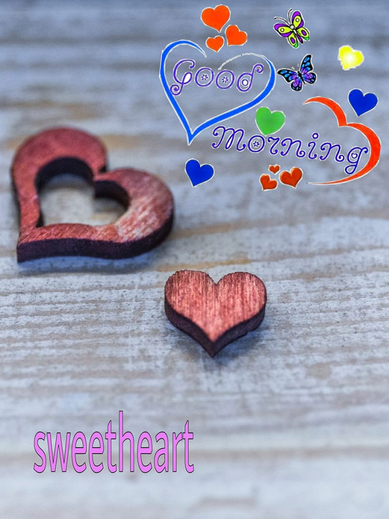 Good morning sweetheart image with heart shape