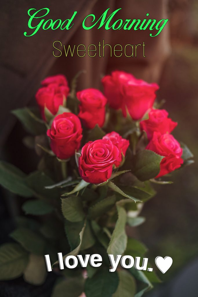 Good morning sweetheart image with red roses