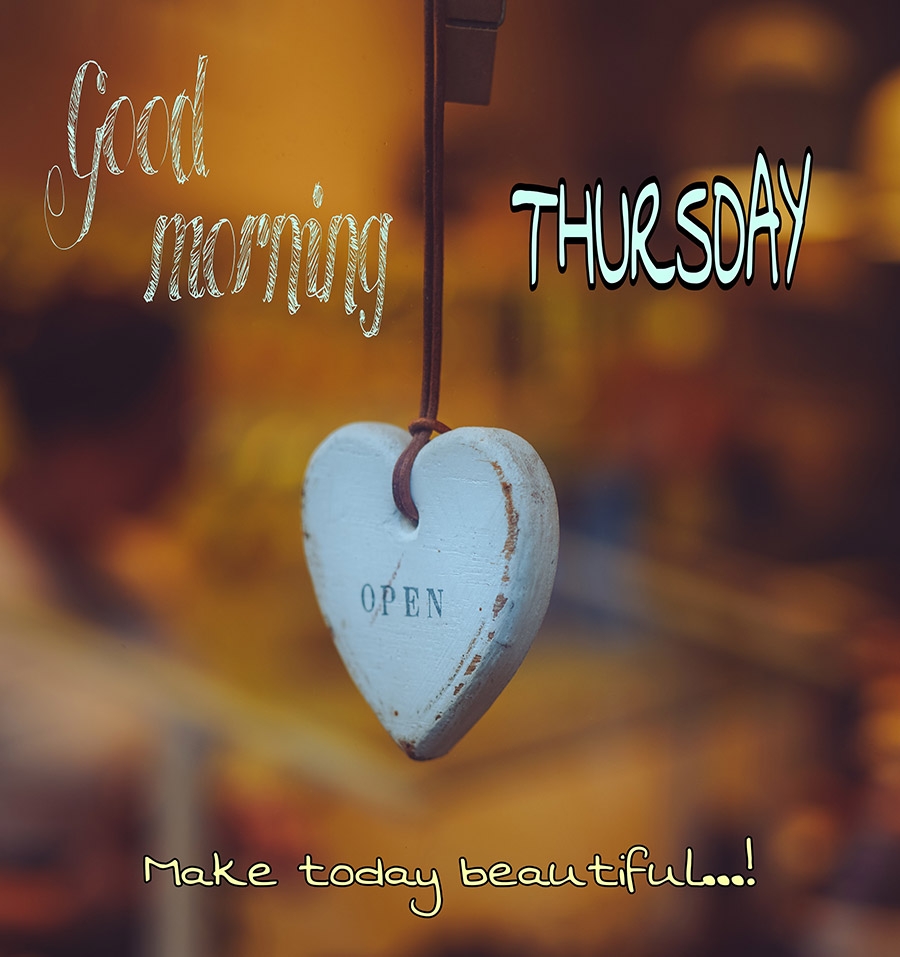 Good morning thursday image with heart