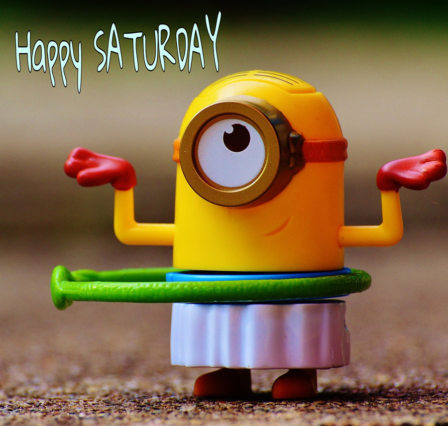 Good morning saturday image with minion