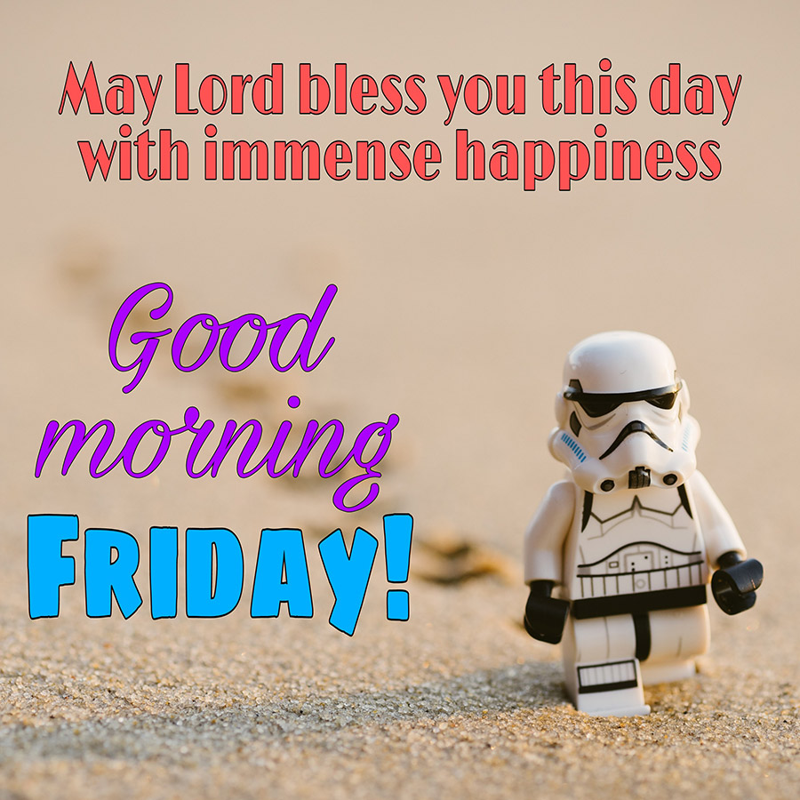 Good morning friday image with star war
