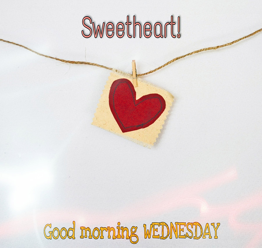 Good morning wednesday image with heart
