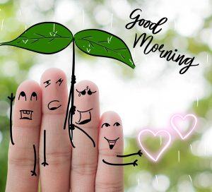 Good morning rainy day image with finger family