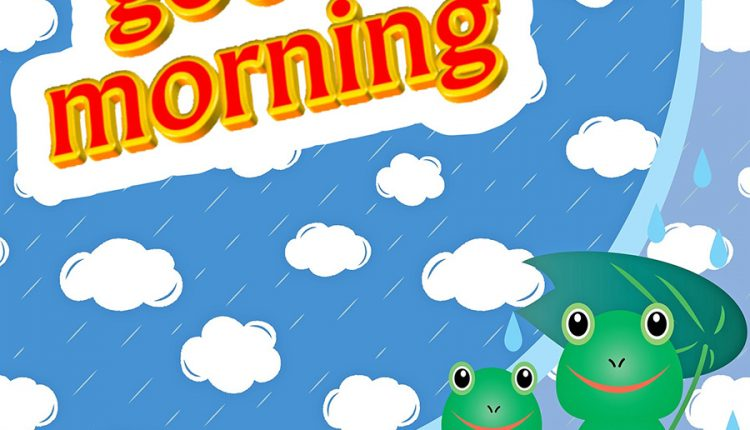 Good morning rain with frogs