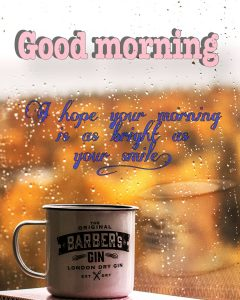 Start a rainy day with a coffee
