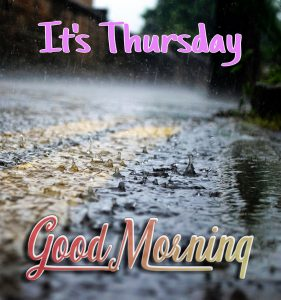 Good morning with rain on the road